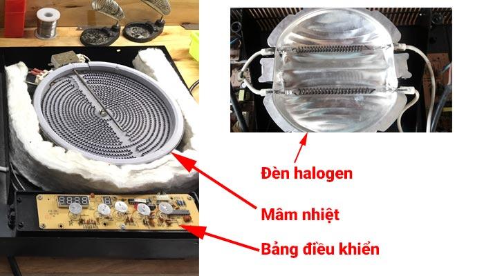 cấu tạo bếp hồng ngoại