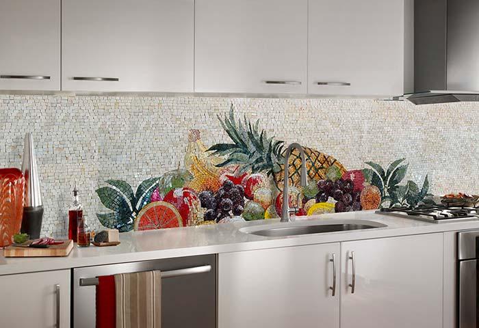 gạch mosaic tranh