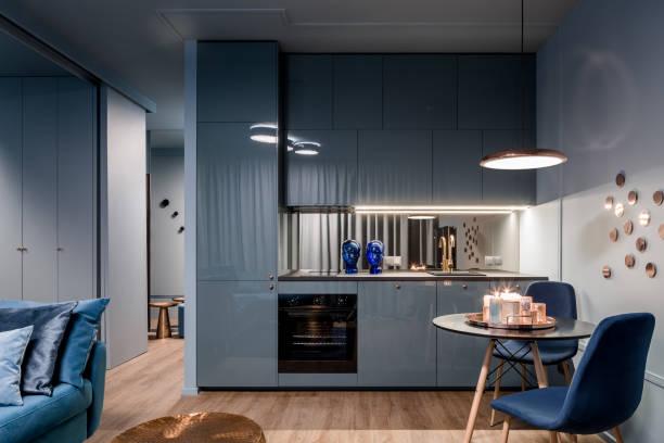 tủ bếp hiện đại màu Scandinavi