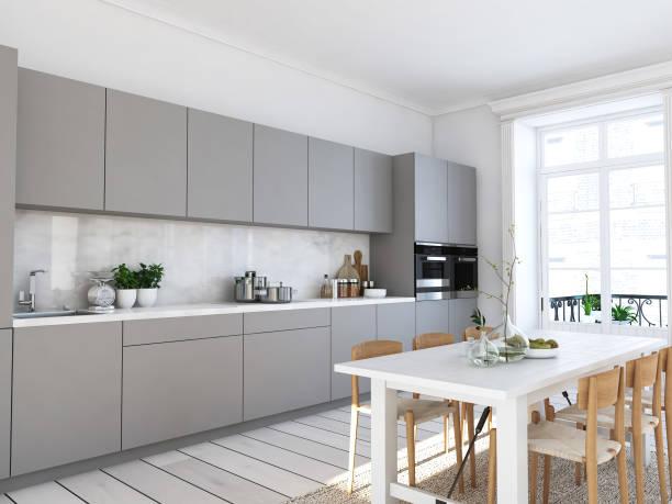 tủ bếp hiện đại tối giản