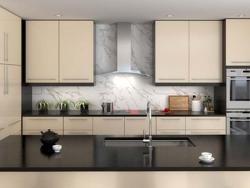 Tủ bếp Inox cửa Acrylic